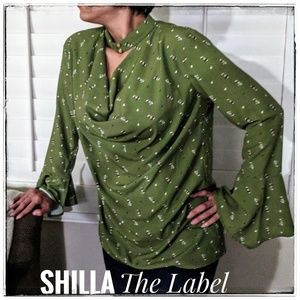 NWT Shilla The Label  Bell Sleeve Blouse